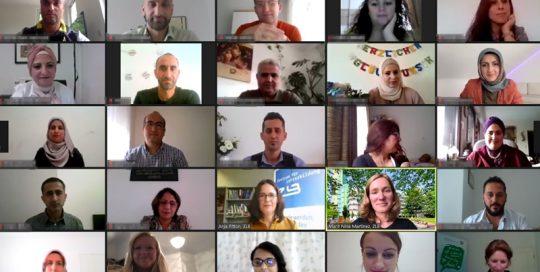 Ausschnitt aus der Videokonferenz mit den Teilnehmenden