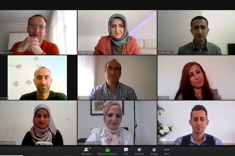 Ausschnitt aus einer Videokonferenz mit Teilnehmenden