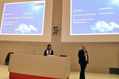 Annika Rating und Frank Diehr vom ZLB