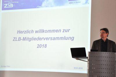 Professor Dr. Stefan Rumann bei der ZLB-Mitgliederversammlung 2018