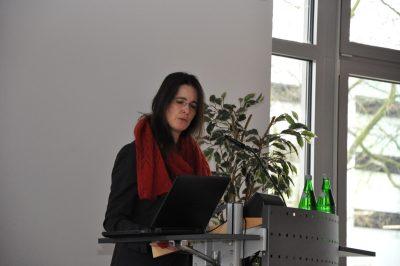 Dr. Anja Pitton bei der ZLB-Mitgliederversammlung 2018