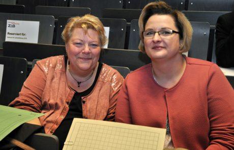 Frau Schäfer und Frau Ingenbleek vom Landesprüfungsamt, Außenstelle Essen
