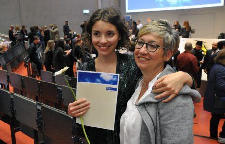 Absolventinnen bei der Abschlussfeier April 2018