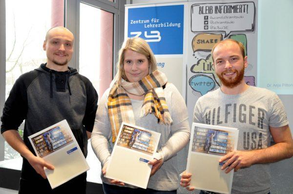 Die drei studentischen Vertreter/-innen im ZLB-Vorstand